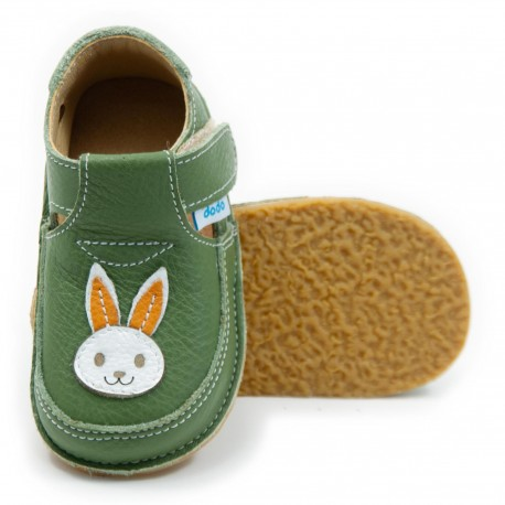 Chaussures souples cuir lapin