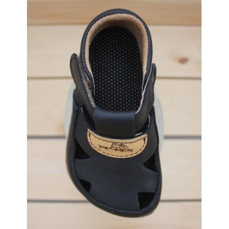 Sandales Barefoot Cuir Souples Black
