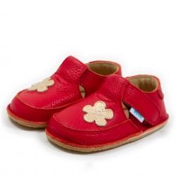 Chaussures souples cuir parme Coquelicot