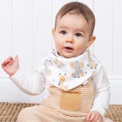 Bavoir bandana coton bio Girafe