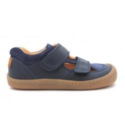 Sandales Plus cuir bio Blue