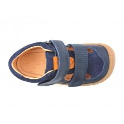 Sandales Korkids cuir bio Blue