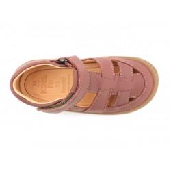 Sandales Korkids cuir bio Old Pink