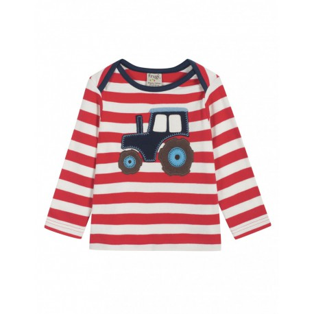 Pull rouge tracteur