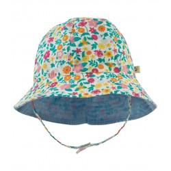 Chapeau coton bio réversible Flowers