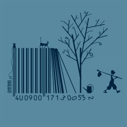 Tee-shirt coton bio Code Bar(b)re