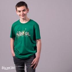 Tee-shirt coton bio Be Different Vert