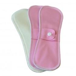 Lot 3 Serviettes intimes coton bio Rose