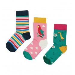 Lot 3 paires chaussettes coton bio Perroquet