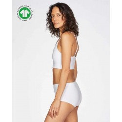 Boxer coton bio Blanc