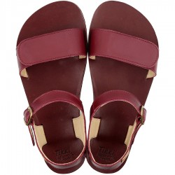 Sandales barefoot Vibe Burgundy