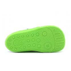 Barefoot en toile bleu vert