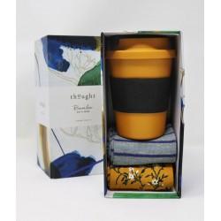 Coffret Jade 2 paires chaussettes bambou & Un gobelet bambou