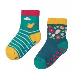 Lot 2 paires chaussettes antidérapantes Ducks