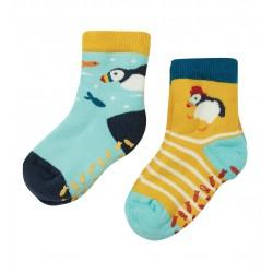 Lot 2 paires chaussettes antidérapantes Macareux