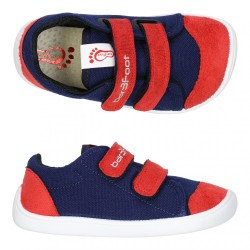 Bar3Foot Sneakers Coton Marine Rouge