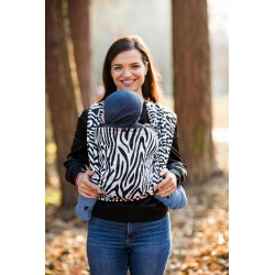 Écharpe de portage Be Lenka Zebra - Black & White