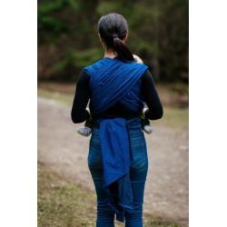Écharpe de portage Bloom bleu