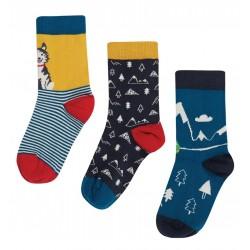 Lot 3 paires chaussettes coton bio Husky