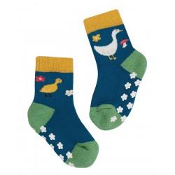 Lot 2 paires chaussettes coton bio Anti-dérapantes Fjord