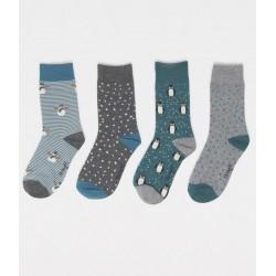 Coffret 4 paires chaussettes bambou Noël