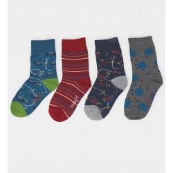 Coffret 4 paires chaussettes bambou Planète
