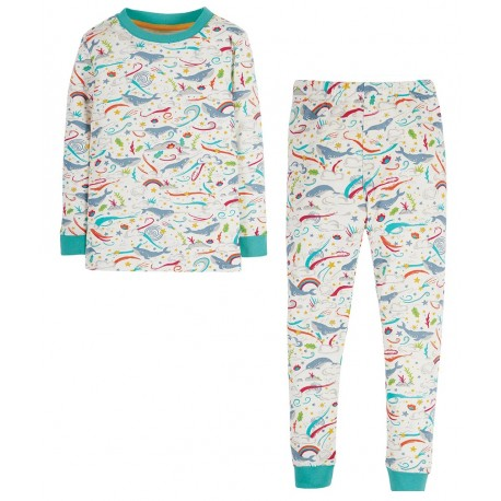 Pyjama coton bio Baleine