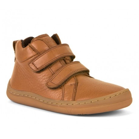 Boots barefoot Cognac