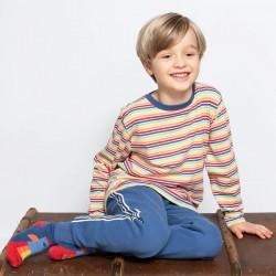 Jogging coton bio Bleu