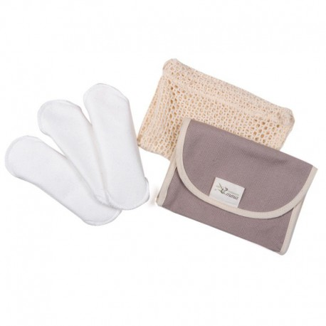 Lot de 3 protèges slips + Trousse + Filet de lavage