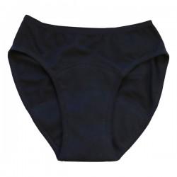 Culotte Menstruelle lavable coton bio Noir