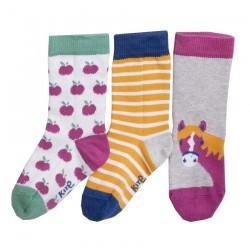 Lot 3 paires chaussettes coton bio Poney