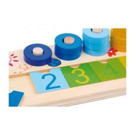 Table de calcul en bois