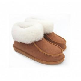 Boots en peau de mouton Camel