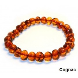 Bracelet en ambre adulte cognac