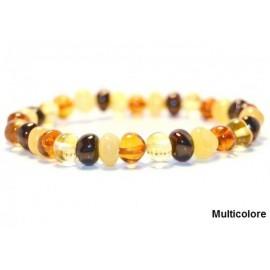 Bracelet en ambre adulte Multicolore