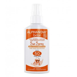 Crème solaire bébé alphanova SPF 50+ spray 125gr