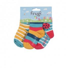 Lot 3 paires de chaussettes coton bio Coccinelle