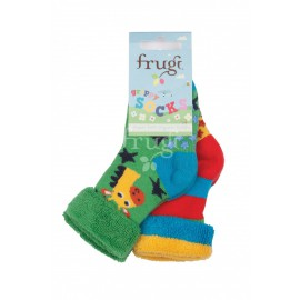 Lot 2 paires chaussettes coton bio Girafe