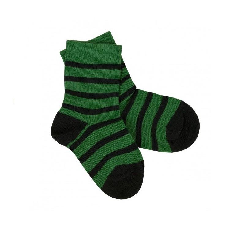 iobio chaussettes en coton biologique rayee pour enfant et bebe. Black Bedroom Furniture Sets. Home Design Ideas