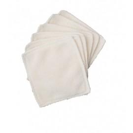 Lot de 6 lingettes lavables coton bio