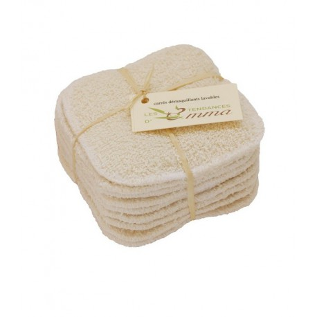 carrés démaquillants coton biologique