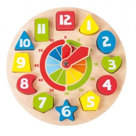 Horloge bois Educative
