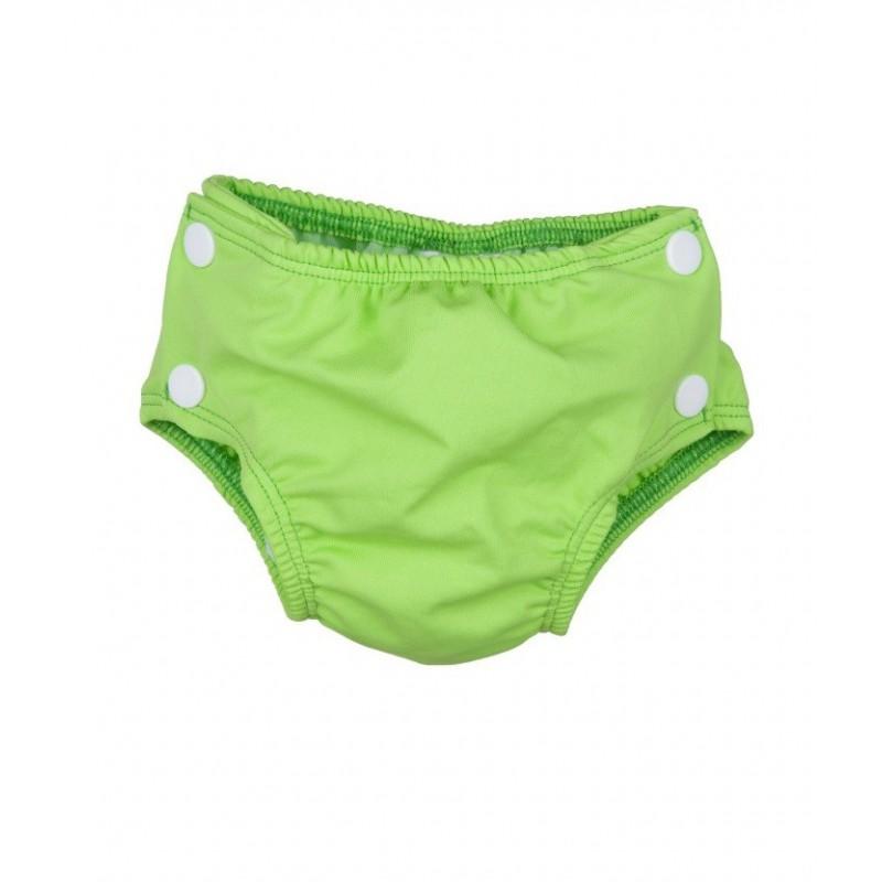 Maillot couche lavable vert pomme popolini for Bebe couche piscine