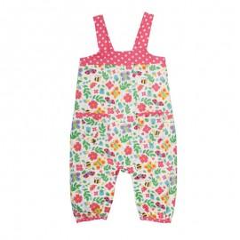Salopette Springtime Frugi en coton bio pour bébé fille