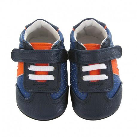 chaussures en cuir souple bébé