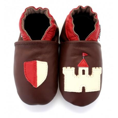 chaussons en cuir souple chevalier