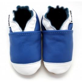 Chaussons Cuir Souple Basket bleu