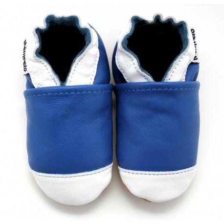 chaussons en cuir souple basket