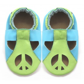 Sandales Cuir Souple peace and love